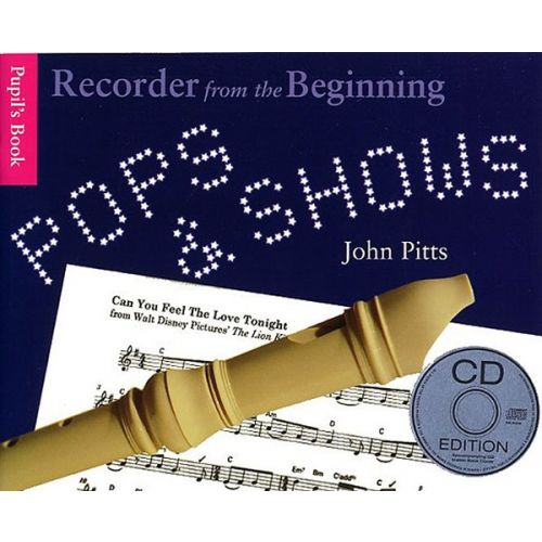 CHESTER MUSIC PITTS JOHN - POPS AND SHOWS - RECORDER FROM THE BEGINNING - RECORDER