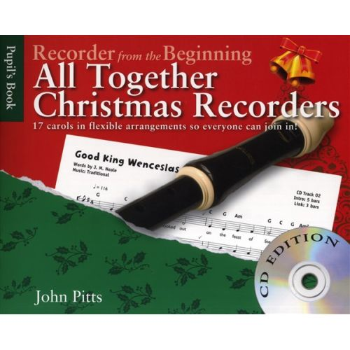 CHESTER MUSIC JOHN PITTS - RECORDER FROM THE BEGINNING - ALL TOGETHER CHRISTMAS + CD - RECORDER