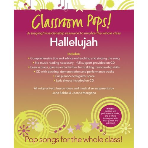CHESTER MUSIC CLASSROOM POP SONGSHEETS HALLELUJAH + CD - PVG
