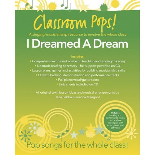 CHESTER MUSIC CLASSROOM POP SONGSHEETS I DREAMED A DREAM PIANO/VOCAL/GUITAR + CD - MUSICALS