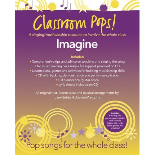 CHESTER MUSIC CLASSROOM POP SONGSHEETS IMAGINE PIANO/VOCAL/GUITAR + CD - PVG