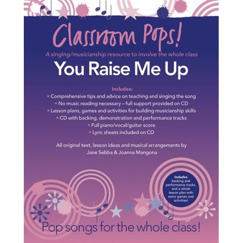 CHESTER MUSIC CLASSROOM POP SONGSHEETS YOU RAISE ME UP PIANO/VOCAL/GUITAR + CD - PVG