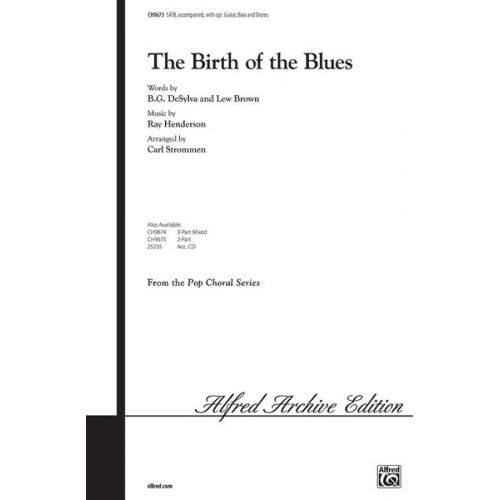 ALFRED PUBLISHING BIRTH OF THE BLUES - MIXED VOICES