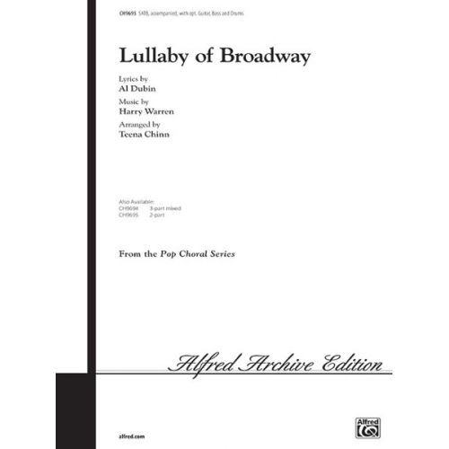 ALFRED PUBLISHING WARREN H. - LULLABY OF BROADWAY - MIXED VOICES