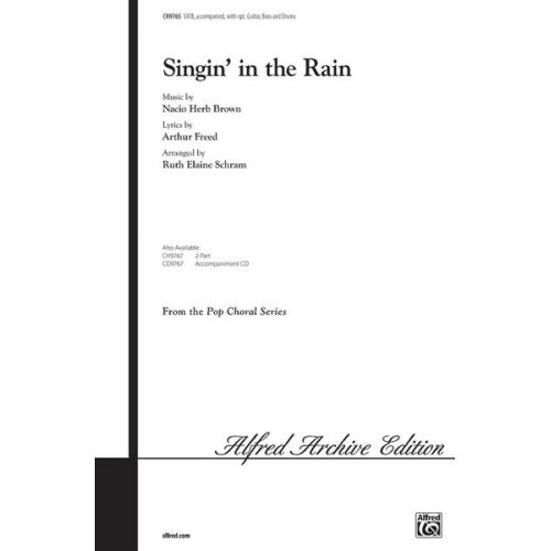 ALFRED PUBLISHING SINGIN' IN THE RAIN - MIXED VOICES