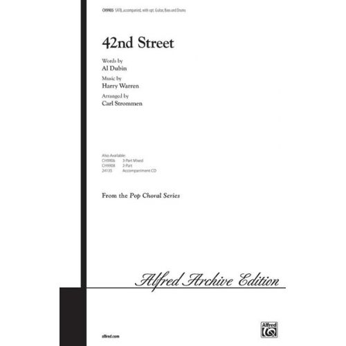 ALFRED PUBLISHING 42ND STREET - MIXED VOICES