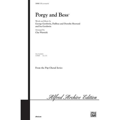 ALFRED PUBLISHING GERSHWIN GEORGE - PORGY AND BESS CHORAL SELECTIONS - MIXED VOICES SATB
