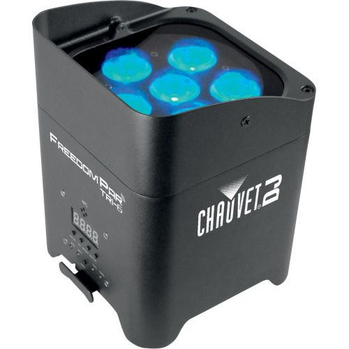 CHAUVET SPOTLIGHT ON BATTERY FREEDOM PAR TRI-6 -6 LED TRI DE 3W