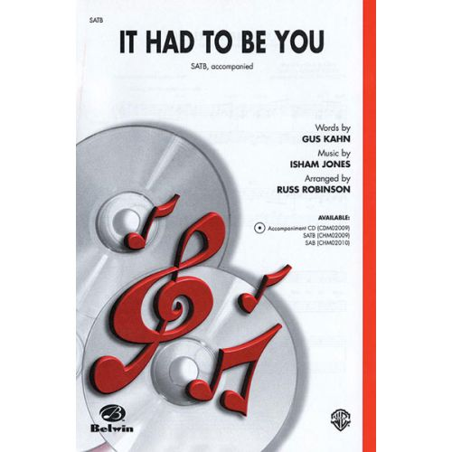 ALFRED PUBLISHING IT HAD TO BE YOU - MIXED VOICES SATB