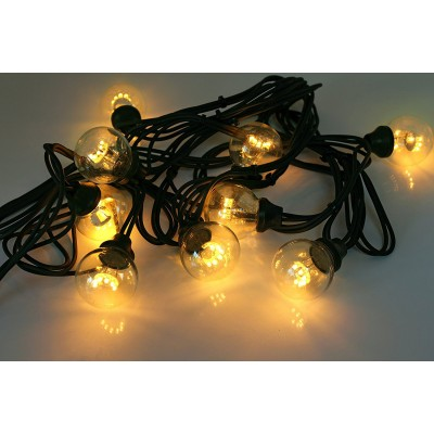 CHROMEX GARLAND TRADITION - 5M - HOT WHITE - BLACK CABLE