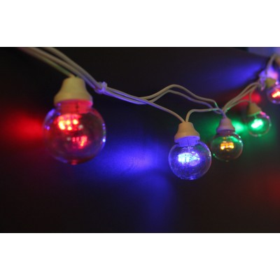 CHROMEX GARLAND TRADITION - 5M - MULTICOLOR - WHITE CABLE