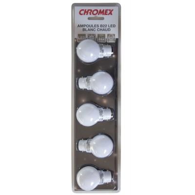 CHROMEX SET OF 5 LIGHT BULBS HOT WHITE