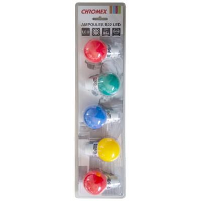 CHROMEX SET OF 5 LIGHT BULBS MULTICOLOR