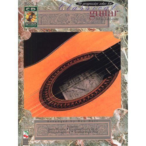 CHERRY LANE 39 PROGRESSIVE SOLOS FOR CLASSICAL GUITAR BOOK 1 + CD - GUITAR TAB