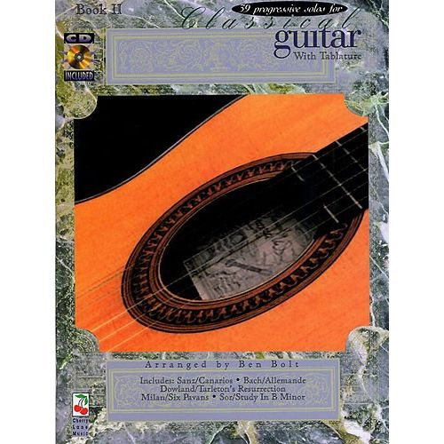 CHERRY LANE 39 PROGRESSIVE SOLOS FOR CLASSICAL GUITAR BOOK 2 TAB + CD - CLASSICAL GUITAR