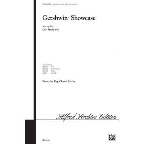 ALFRED PUBLISHING GERSHWIN GEORGE - GERSHWIN SHOWCASE - MIXED VOICES SATB