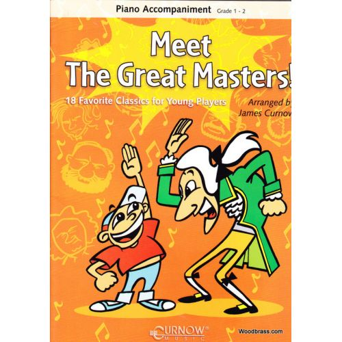 CURNOW CURNOW JAMES - MEET THE GREAT MASTERS - PIANO ACCOMPANIMENT
