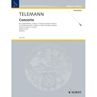 SCHOTT TELEMANN - CONCERTO A MINOR - CONDUCTEUR