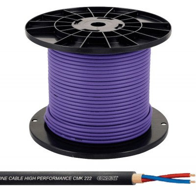 CORDIAL MICRO CABLE REEL 2 X 0.22MM² 100 M PURPLE