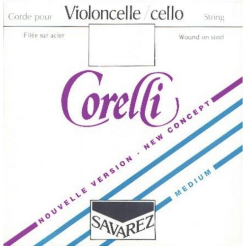 SAVAREZ CORELLI CRYSTAL 3/4 CELLO SET MEDIUM TENSION