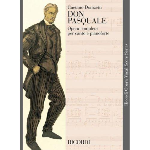 RICORDI DONIZETTI G. - DON PASQUALE - CHANT ET PIANO
