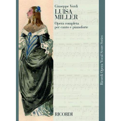 RICORDI VERDI G. - LUISA MILLER - CHANT ET PIANO