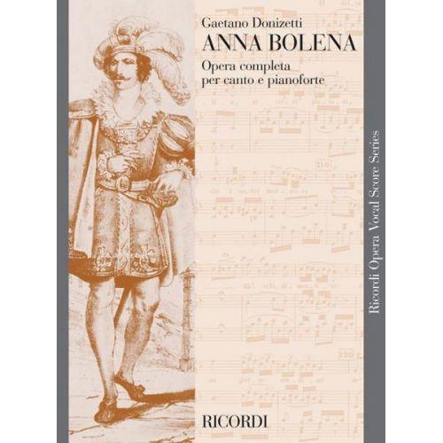 RICORDI DONIZETTI G. - ANNA BOLENA - CHANT ET PIANO
