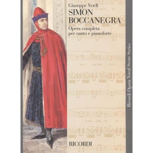 RICORDI VERDI G. - SIMON BOCCANEGRA - CHANT ET PIANO
