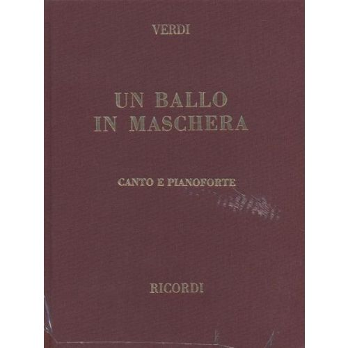 RICORDI VERDI G. - BALLO IN MASCHERA - CHANT ET PIANO