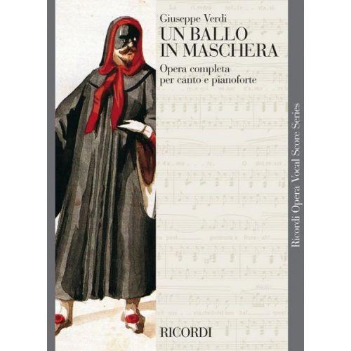 RICORDI VERDI G. - UN BALLO IN MASCHERA - CHANT ET PIANO