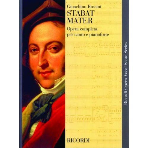 RICORDI ROSSINI G. - STABAT MATER - CHANT ET PIANO