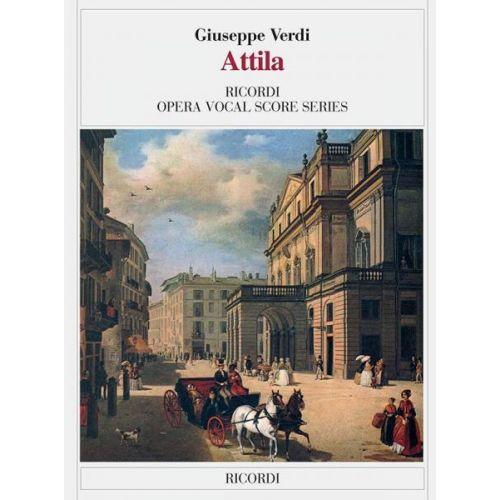 RICORDI VERDI G. - ATTILA - CHANT ET PIANO