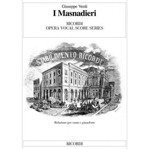 RICORDI VERDI G. - I MASNADIERI - CHANT ET PIANO