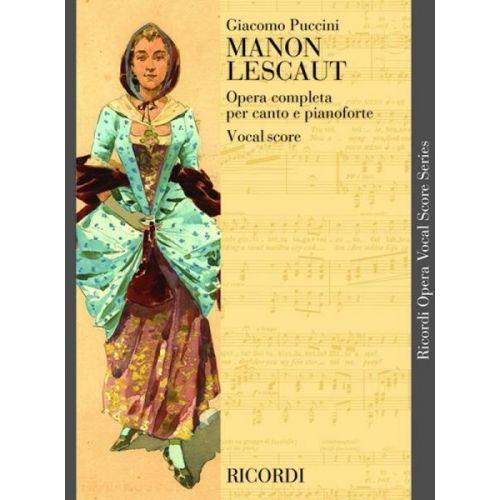 RICORDI PUCCINI G. - MANON LESCAUT - CHANT ET PIANO