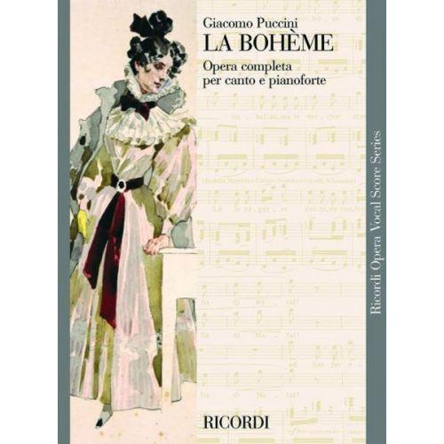 RICORDI PUCCINI G. - LA BOHEME - CHANT ET PIANO
