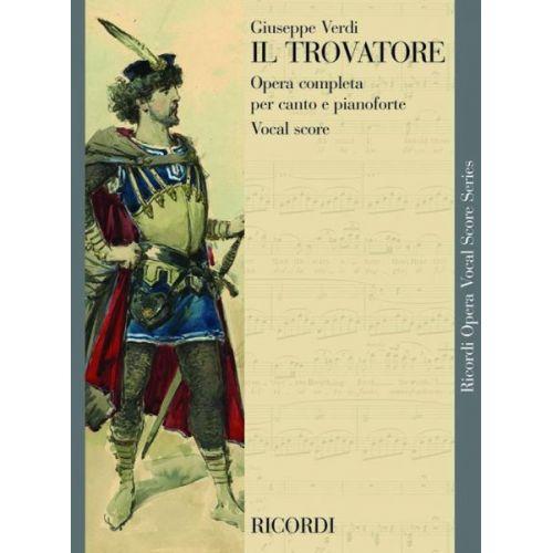 RICORDI VERDI G. - TROVATORE - CHANT ET PIANO