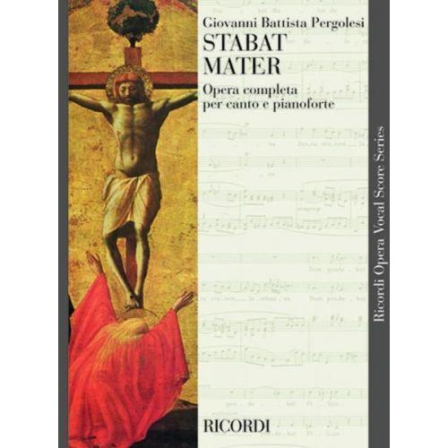 RICORDI PERGOLESI G. - STABAT MATER - CHOEUR