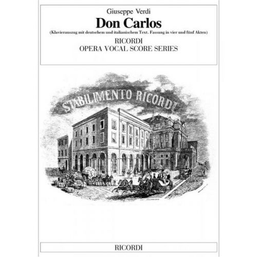 RICORDI VERDI G. - DON CARLOS - CHANT ET PIANO