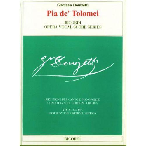RICORDI DONIZETTI G. - PIA DE' TOLOMEI - CHANT, PIANO