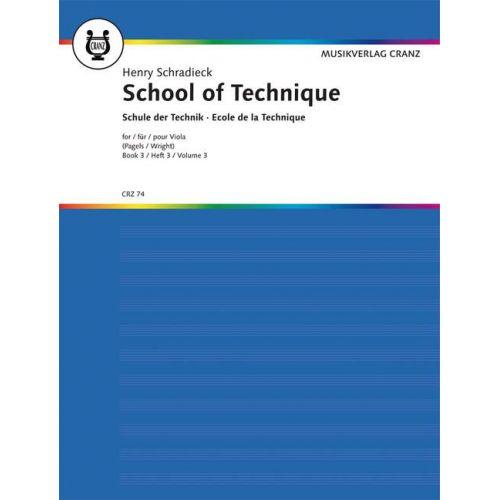 MUSIKVERLAG CRANZ SCHRADIECK HEINRICH - SCHOOL OF TECHNIQUE BAND 3 - VIOLA