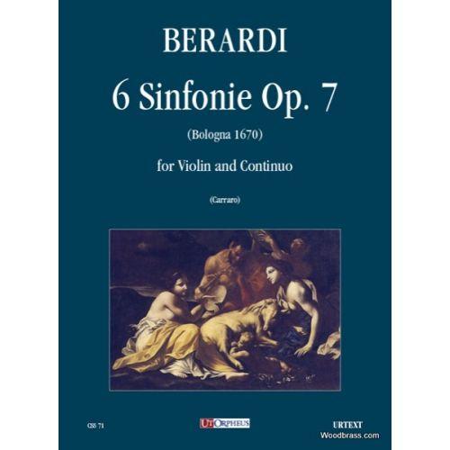 UT ORPHEUS BERARDI A. - 6 SINFONIE OP. 7 - VIOLON ET BC