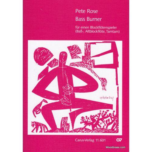 CARUS ROSE P. - BASS BURNER - FLUTE A BEC SOLO