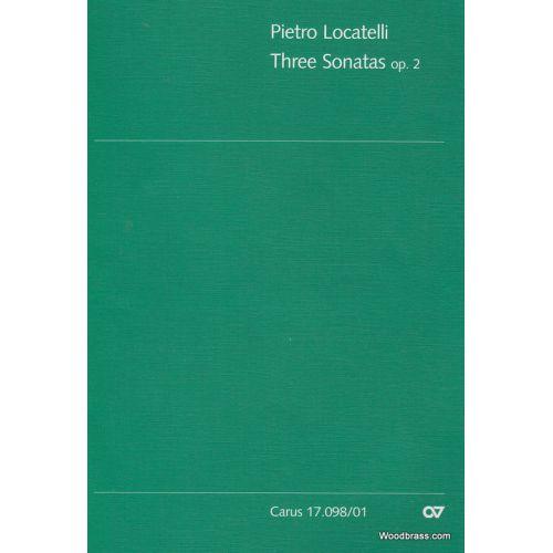 CARUS LOCATELLI P. - THREE SONATAS OP.2 - FLUTE & BASSO CONTINUO