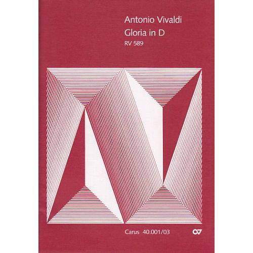 CARUS VIVALDI ANTONIO - GLORIA RV589 - CHANT/PIANO