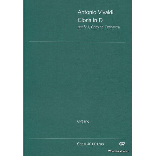 CARUS VIVALDI A. - GLORIA RV 589 - ORGUE