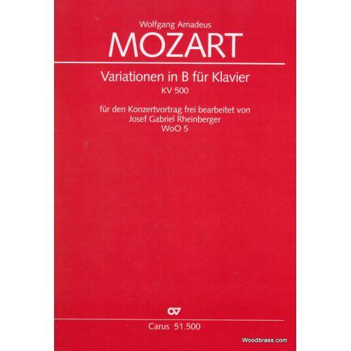 CARUS MOZART W. A. - VARIATIONEN IN B - PIANO