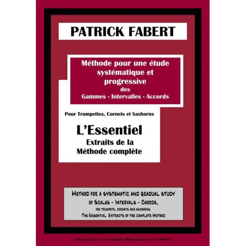 EDITION CLAZZ FABERT PATRICK - METHODE