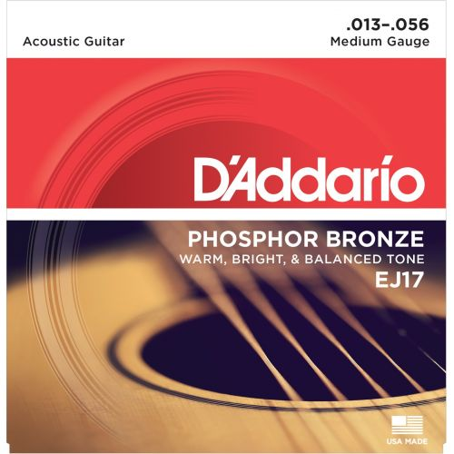 D'ADDARIO AND CO EJ 17 PHOSPHOR BRONZE MEDIUM 13 53