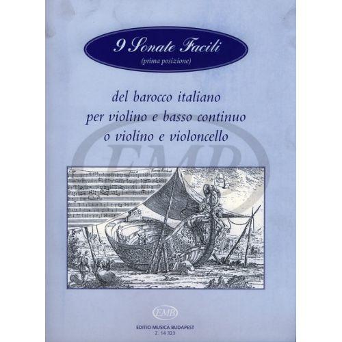 EMB (EDITIO MUSICA BUDAPEST) 9 SONATE FACILI - VIOLON ET PIANO