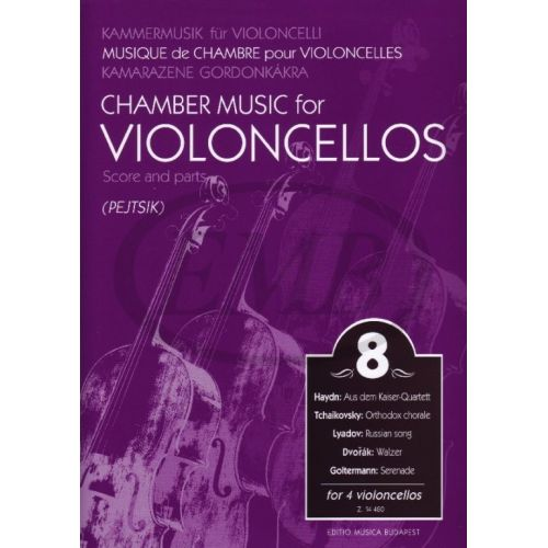 EMB (EDITIO MUSICA BUDAPEST) CHAMBER MUSIC FOR VIOLONCELLOS VOL.8 - 4 VIOLONCELLOS